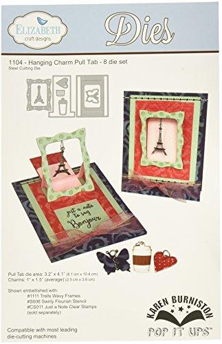 Elizabeth Craft Designs Aufhängen Charm Pull Tab sterben, Metall, grau