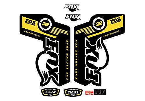 PEGATINAS FACTORY SERIES FLOAT TALAS FOX 32 AM12 HORQUILLA FORK STICKERS AUFKLEBER ADESIVI BIKE AMARILLO/YELLOW 025