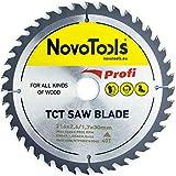 NOVOTOOLS Lame de scie circulaire à bois 216 x 30 mm x 40 dents pour scies Festool,...