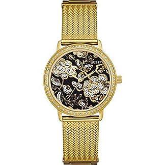 Guess Reloj Análogo clásico para Mujer de Cuarzo con Correa en Acero Inoxidable W0822L2