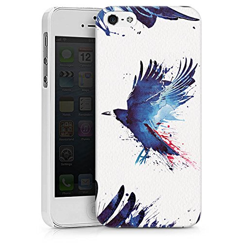 Apple iPhone X Silikon Hülle Case Schutzhülle Vogel Kunst Krähe Hard Case weiß