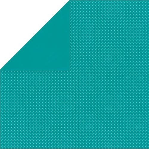 BoBunny Double Dot Double-Sided Textured Cardstock 12x12-Turquoise by -