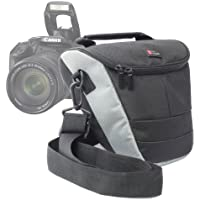 Durable Protective Case for Canon EOS 600D, EOS 650D / Rebel T4i, EOS 1100D / Kiss X50 / Rebel T3, EOS 7D, EOS 70D, 350D, 60D / Rebel T4, T3i & T5i SLR Camera, with Detachable Shoulder Strap By DURAGADGET