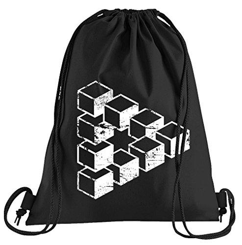 T-Shirt People Sheldons Escher Cube Sportbeutel - Bedruckter Beutel - Eine schöne Sport-Tasche Beutel mit Kordeln