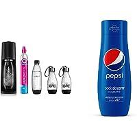 Sodastream Pack avec Machine à Eau Pétillante et Soda Terra Noire, 1 Bouteille + Sodastream Concentré Pepsi – 100% du…