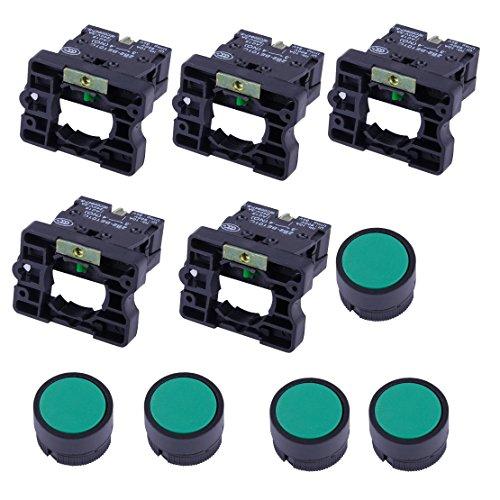 5 Stck. 22mm 1 Schließer Schließer Grünes Schild Taster Taster 600V 10A ZB2-EA31 -