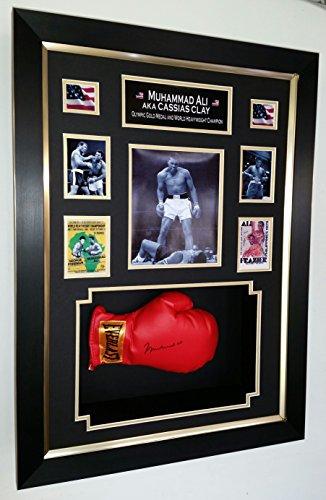 Boxhandschuh, signiert von Muhammad Ali, eingerahmt Ali Boxhandschuhe