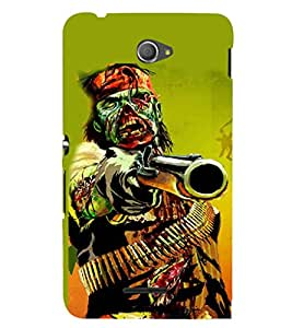 EPICCASE Zombie attack Mobile Back Case Cover For Sony Xperia E4 (Designer Case)