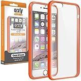 Orzly - Coque FUSION Bumper Case pour Apple iPhone 6 & 6S (4.7 Pouces Modèle - 2014 & 2015) Antichocs - Coque Rigide avec Bordure Renforcée ORANGE spéciale absorption d'impact avec dos 100% transparent