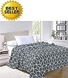 Eleganten Komfort # 1Fleece Decke auf die Amazon–Luxus Microfleece Ultra Plüsch Cube Muster–alle Saison Decke, King/California King, Grau