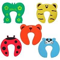 JER 5er Set Türstopper Türpuffer Klemmschutz Kindersichrung Tiermotive Schaumgummi Homeproduct