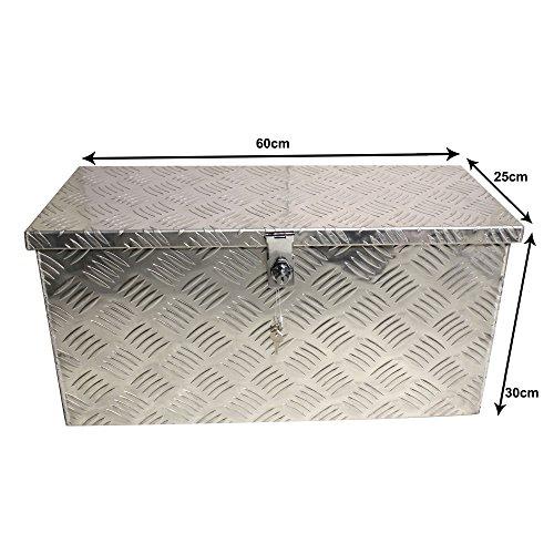 Truckbox inkl. Moosgummidichtung Alubox Werkzeugkiste Alukasten- Breite:60 cm x Tiefe:25 cm x Höhe:30 cm
