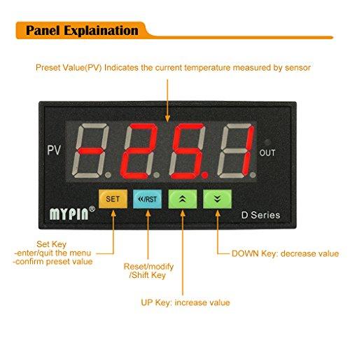 Aiming MyPin Digital Sensor Meter Multifunktions intelligente LED-Anzeige 0-75mV / 4-20mA / 0-10V Eingang Drucktransmitter -