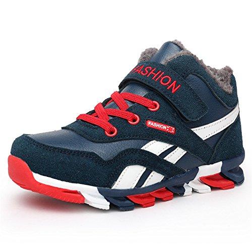 DUORO Kinder Sportschuhe Sneaker Jungen Mädchen Outdoor Atmungsaktive Turnschuhe Running Schuhe Straßenlaufschuhe (33 EU, Dunkelblau-2)