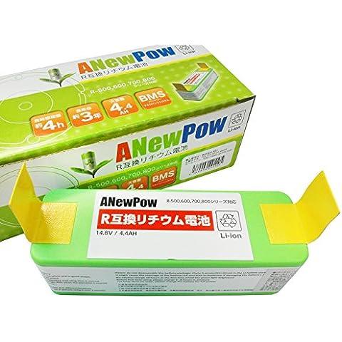 ANewPow 4400mAh estesa rimontaggio di capacità elevata batteria al litio per iRobot Roomba Serie 500/600/700/800, 3 GRATIS 3-bracci pennello