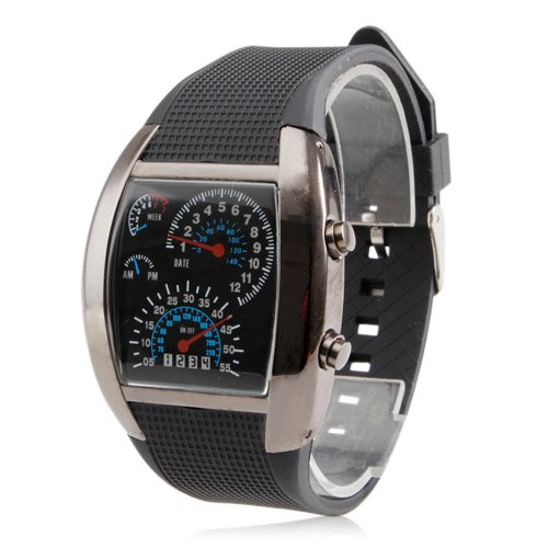 Lightinthebox-LED-Digital-Mens-Watch-Sports-Speedometer-Style-Blue-Flash