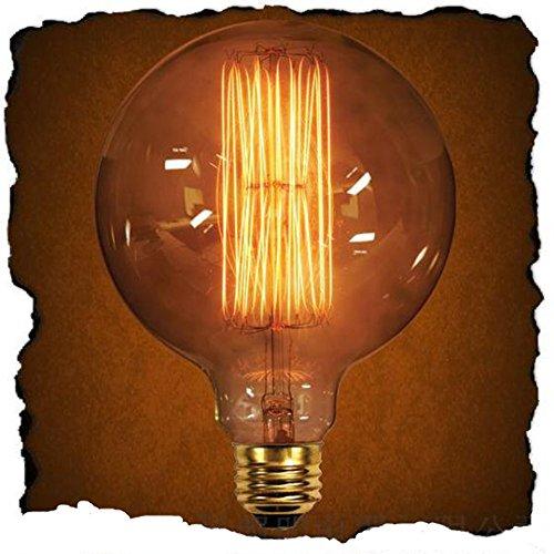 KINGSO Edison Vintage Glühbirne Lampe G125 Big-Globe (40W, E27, 220V, Handgewickelt) Antike...