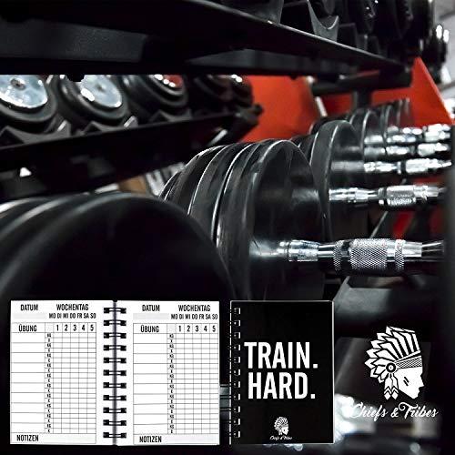 Chiefs & Tribes® Trainingstagebuch für Krafttraining, Fitness Studio, Bodybuilding & Cardio / 200 Seiten / Robust & praktisch für das Gym / DIN A6 - 4