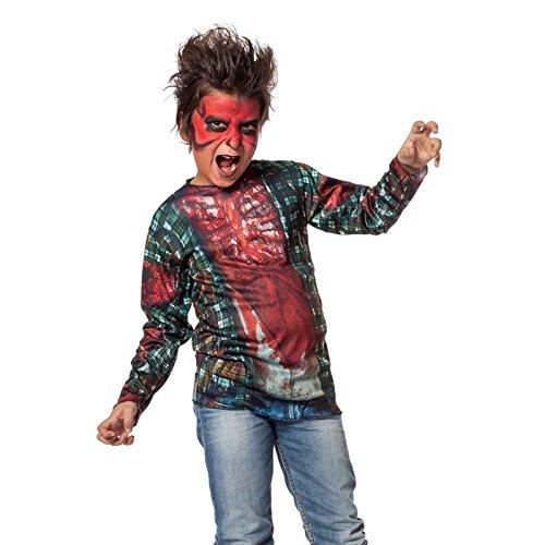 Wilbers Sale Kinder-Kostüm Shirt Zombie, Gr. 140-152