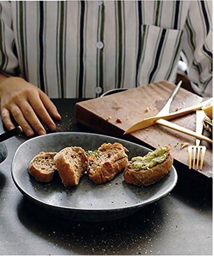 Insalatiera Fruttiera Piatto colazione di consistenza di Piatto cemento Piatto di di bistecca occidentale Piatto di insalata di frutta Piatto di cena vintage creativo Piatto di insalata ( dimensioni   2622cm ) d2e1a5