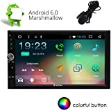 Eincar 7 pouces Car Stereo Android 6.0 Marshmallow écran tactile double Din Dash Headunit vidéo Navigation 1080P Autoradio Quad-Core CPU GPS Bluetooth RDS support Wifi SD / USB / 3G / OBD2 / 4G d'Apple Jouer MirrorLink Parking System