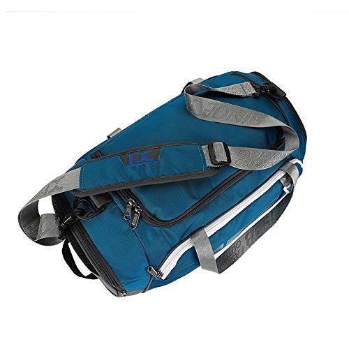 Suzone Oxford fitness bag Leisure borsa messenger bag borsa da palestra borsone sportivo borsone da viaggio, con scomparto per scarpe, donna, Black&White White&Blue