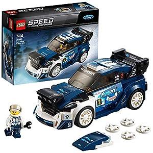 LEGO Speed Champions - Ford Fiesta M-Sport WRC, Juguete de Construcción para Niñas y Niños de 7 a 14 Años de Coche de Carreras Azul (75885)