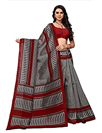 Fabwomen Cotton Silk Saree With Blouse Piece (Fab1756_Gray_Free Size)