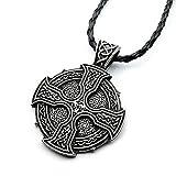 Miss–E–JEWELS–Collar con colgante cruz envejecido plata Solar Celtics druida irlandés señoras Mens Vikingo nórdico Talisman Rune