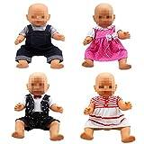 Lance Home 4 Abiti Vestiti Tuta alla Moda 4 Grucce per 36 cm - 46cm Bambole American Girl Accessori Regali Baby Dolls Bambola bebé Bambolotti E Altre Bambole (14 Pollici - 18 Pollici)