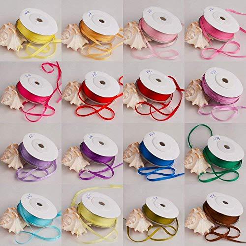 Zoomy Far: Farbe 209: 10m / roll 4mm Breite 100% reale reine Seidenband für Stickerei und Handwerk Projekt Woven Double Face Taft (Seidenband 100%)