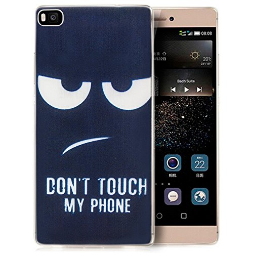 Coque iPhone 7 Coque de Protection en Silicone Case [zanasta] Ultra Mince Premium Soft Flexible TPU Gel Cover Housse Etui Dont Touch my Phone Clair / Transparent Don't Touch My Phone