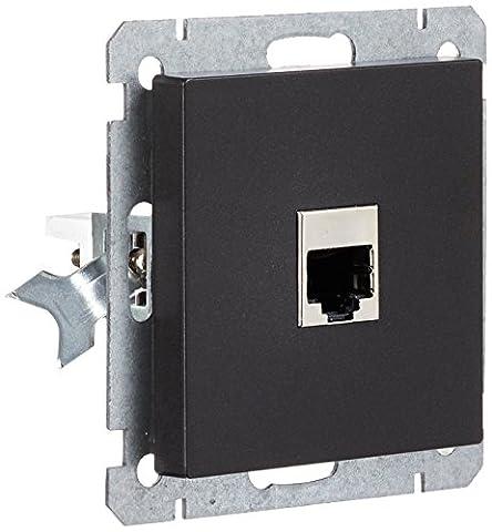 Wintop visage Unique prise RJ45RJ45avec cadre gratuit gratuit de Profitez de valeur Cadre Blanc avec environ 5EUR pour système d'éclairage 558932,2°C S610P953A Anthracite Qté: