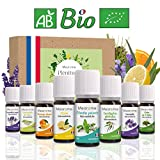 8 x 10 ml Huiles essentielles BIO + guide d'aromathérapie - AB HEBBD - HECT - Qualité et...