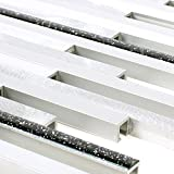 Aluminium Metall Mosaik Fliesen Kintore Glitzer (Schwarz)