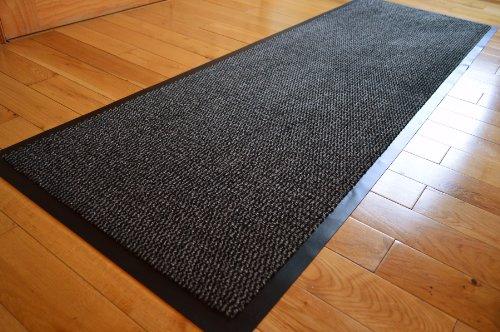 GREY BLACK HEAVY DUTY NON SLIP RUBBER DIRT STOPPER BARRIER RUG SMALL MEDIUM EXTRA LARGE DOORMAT LONG NARROW HALL RUNNER **6 (60 X 180 CMS)