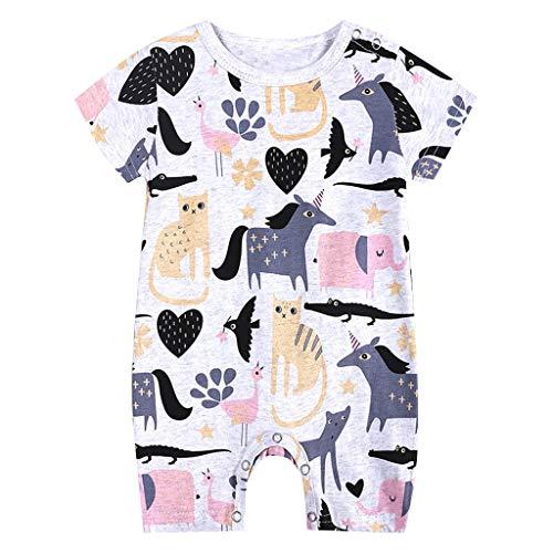 BeautyTop 0-18 Monat Baby Jungen Sommer Kurzarm Spielanzug Karikatur Gemustert Drucken Strampler❤v❤NeugeborenesBaby Kurzärmliges Kleidung Leichte Jumpsuits Toddler Kinder Kleinkind ()