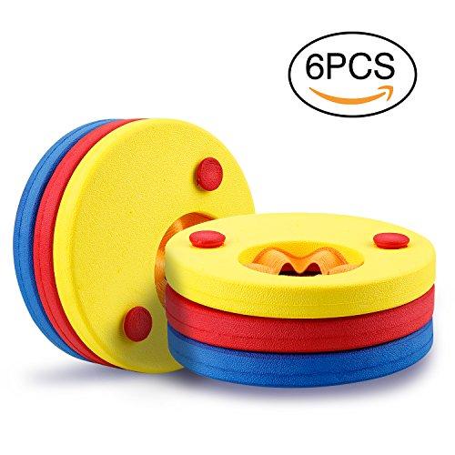 Mture Schwimmscheiben, Schwimmflügel Kids Schwimmhilfe schwimmring Armbinden Schwimmer Discs Schaum Schwimmen Armbands - 6 Scheiben