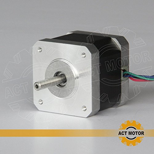 ACT MOTOR GmbH 1PC 17HS4417 Nema17 Stepper Motor Bipolar 40mm Body 40Ncm Torque 4Wire 300mm Cable 1.7A with 1.8° 2.55V for Robot CNC Schrittmotor 3D Printer Bipolar Stepper Motor