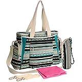 KF Baby Bohemian Diaper Bag Value Set, Crossbody strap, Stroller hooks, more
