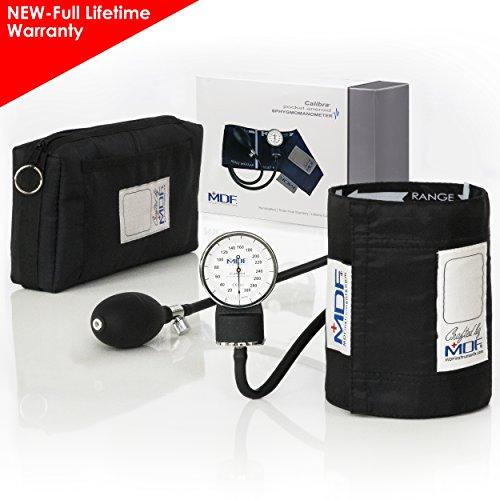 MDF® Calibra Aneroid Blutdruckmessgerät - professionelles Blutdruckmessgerät - Gratis-Parts-for-Life & Lebenslange-Garantie -Schwarz (MDF808M-11)