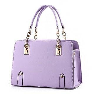 iLory Mode Handtaschen Schulter Messenger Totes für Frauen (Lavendel)