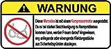 Mercedes Kompressor Motor German Lustig Warnung Aufkleber Decal Sticker