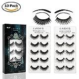 Best False Eyelashes - False Eyelashes - 10 Pair Multipack Natural 3D Review