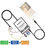 apps2car USB SD Entrada auxiliar MP3 Audio adaptador Digital cambiador de CD para Nissan Qashqai Xtrail Pathfinder Nota Pulsar Radio