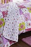 Copriletto trapuntato di lusso, patchwork, per bambine, colore: rosa