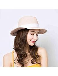 Sunny Elegante Alta qualità da Donna Bombetta Hat Cappello di Paglia  Vacanza Protezione Solare Cappellini Estivi 63a571ab3ed7