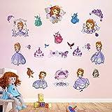decalmile Wandtattoo Prinzessin Sofia The First Wandsticker Kinderzimmer Mädchen Wandaufkleber Babyzimmer Mädche Schlafzimmer Wanddeko