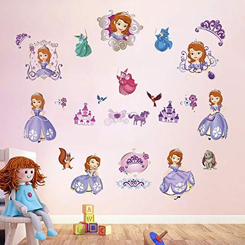 decalmile Wandtattoo Prinzessin Sofia The First Wandsticker Kinderzimmer Mädchen Wandaufkleber Babyzimmer Mädche Schlafzimmer Wanddeko (Für Wandsticker Disney Mädchen)
