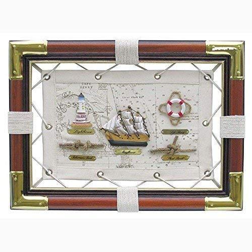 Knotentafel auf Segeltuch, maritime Wanddeko mit Seemannsknoten Englisch